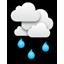 Overcast, light rain